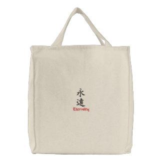 Caractère de kanji pour l'éternité sur un sac