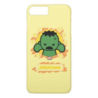 Carcasse de Kawaii avec des icônes de héros de Coque iPhone 7 Plus