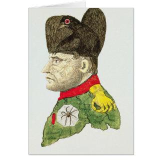 Caricature de Napoleon Bonaparte Carte