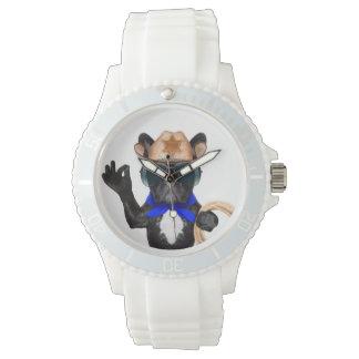 carlin de cowboy - cowboy de chien montres bracelet