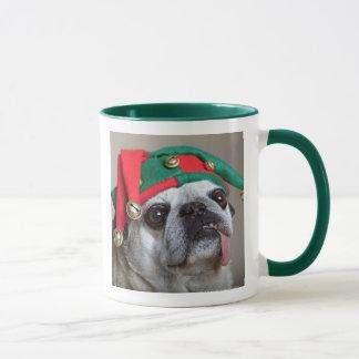 Carlin de regard drôle avec la langue traînant mug
