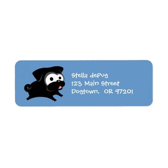 Carlin noir personnalisable 2 étiquettes de
