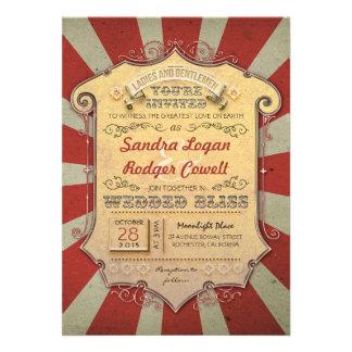 Carnaval huwelijksuitnodigingen persoonlijke  aankondiging