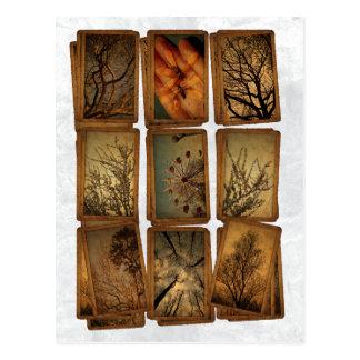 Carnaval, libellules, arbres carte postale