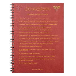 Carnet 16 règles d'or de la charte d'analyste d'affaires