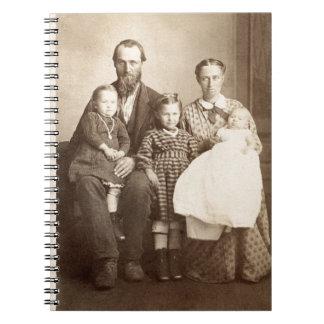 Carnet 1860's vintages de photo de l'albumen CDV de