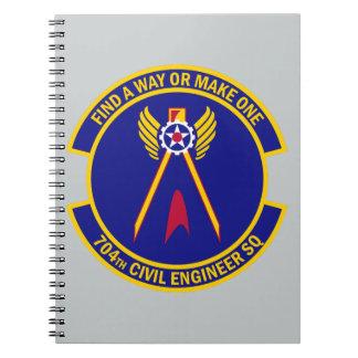 Carnet 704th Escadron d'ingénieur civil