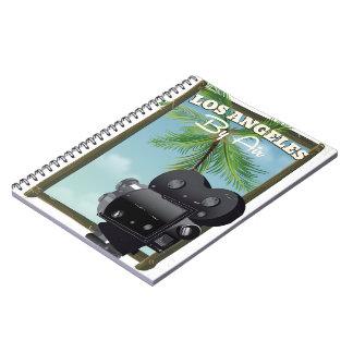 Carnet Affiche de voyage d'appareil-photo de film de Los