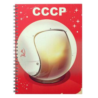 Carnet Affiche soviétique rouge vintage de l'espace de