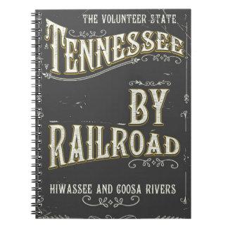 Carnet Affiche vintage de chemin de fer du Tennessee