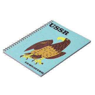 Carnet Affiche vintage de voyage de l'URSS Eagle