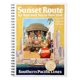 Carnet Affiche vintage de voyage de New York reconstituée