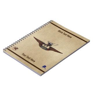 Carnet Ailes de pilote de Bush d'orignaux de vol