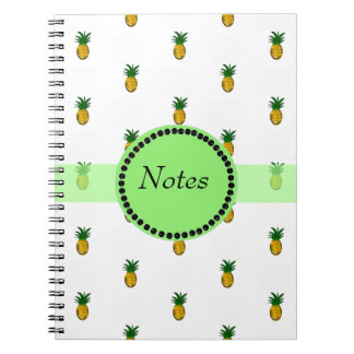 Carnet Ananas d'or minuscules