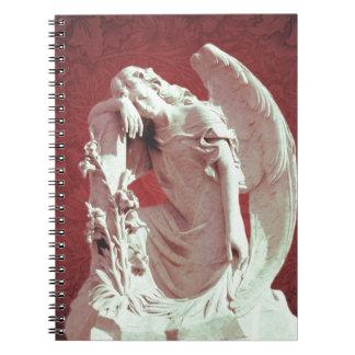 Carnet ange pleurant de peine commémorative de cimetière