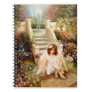 Carnet angélique de jardin de sérénité