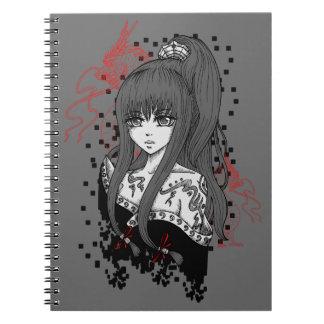 Carnet Anime/Manga-Girl with Asian Dragons