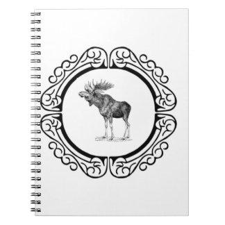 Carnet anneau des orignaux de taureau