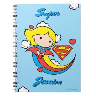 Carnet Arc-en-ciel de vol de Chibi Supergirl