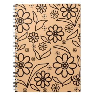 Carnet Arrière - plan abstrait floral