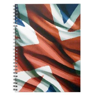 Carnet Art de bruit britannique de drapeau
