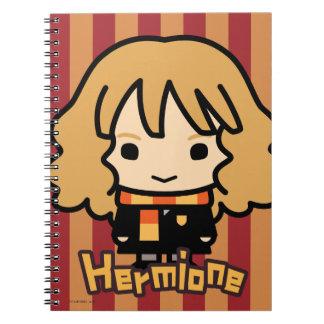 Carnet Art de personnage de dessin animé de Hermione