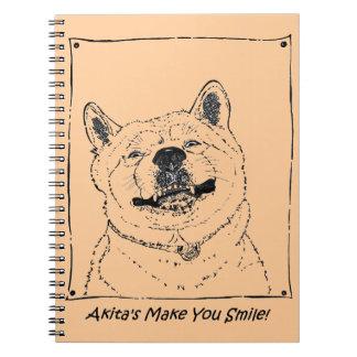 Carnet art réaliste de sourire mignon drôle de chien