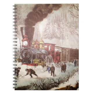 Carnet attaché de train de neige