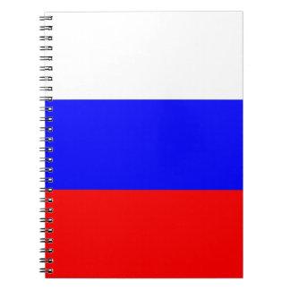 Carnet avec le drapeau de la Russie