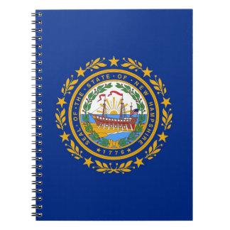 Carnet avec le drapeau de l'état du New Hampshire