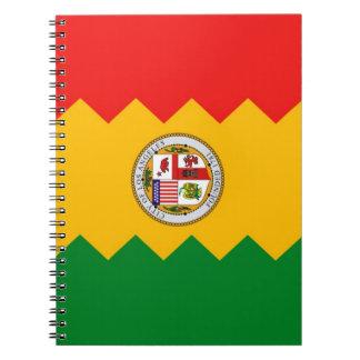 Carnet avec le drapeau de Los Angeles, la