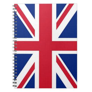 Carnet avec le drapeau du Royaume-Uni