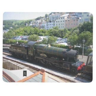 Carnet avec l'image de train de vapeur (manoir de