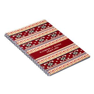 Carnet Bagout géométrique tribal de Natif américain de