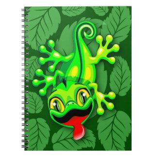 Carnet Bande dessinée de bébé de lézard de Gecko