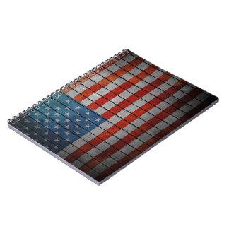 Carnet Barrière peinte de drapeau américain