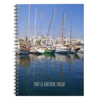 Carnet Bateaux Tunisie de bord de mer de port d'EL