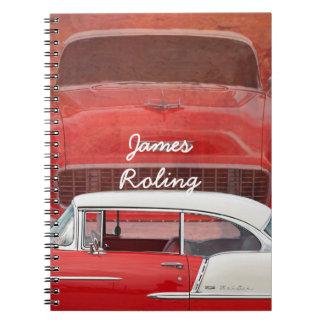 Carnet Bel Air classique Dodge vintage blanc rouge de