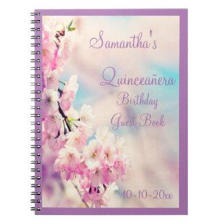 Carnet Bel anniversaire de Quinceañera de fleur