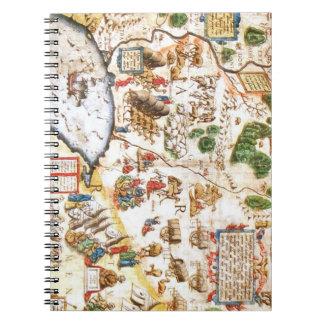 Carnet Belle carte antique de la Russie