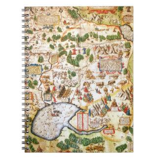 Carnet Belle carte antique de la Russie du nord