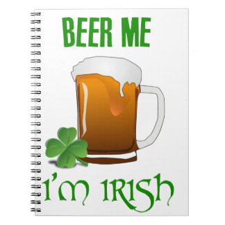 Carnet Bière je je suis irlandais