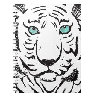 Carnet blanc de tigre