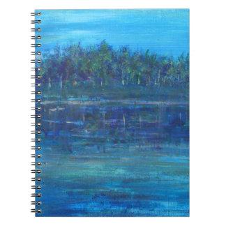 Carnet bleu de photo d'oasis