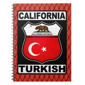 Carnet Bloc - notes américain turc de la Californie