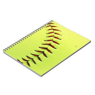Carnet Boule jaune du base-ball