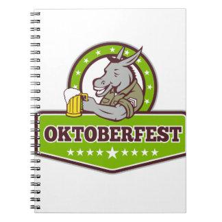 Carnet Buveur de bière d'âne Oktoberfest rétro
