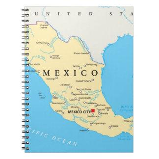 Carnet Carte politique du Mexique