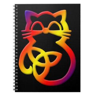 Carnet celtique de chat de noeud de trinité