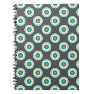 Carnet Cercles gris de combinaison par Shirley Taylor